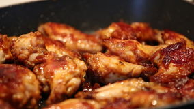 Chicken wings stock video