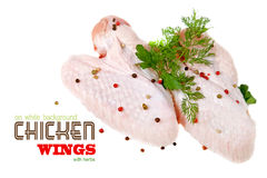 Chicken wings on white background Royalty Free Stock Image
