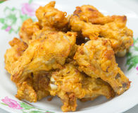 Chicken wings on white dish. Stock Images