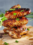 Chicken Wings With Honey And Mustard Royalty Free Stock Photos