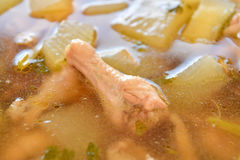 Chicken and winter melon soup, Thai food. Stock Photo