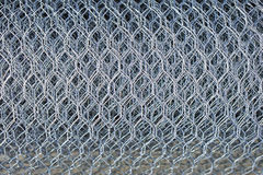Chicken wire. Steel metal mesh chicken wire roll stock photos