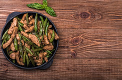 Chicken With Asparagus Stir Fry. Stock Image