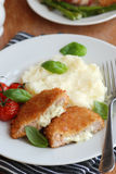 Chicken With Mashed Potatoes Stock Photography