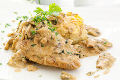Free Chicken With Mushroom Sauce Royalty Free Stock Images - 26961749