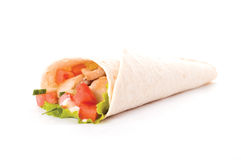 Chicken wrap Royalty Free Stock Photo