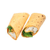 Chicken wrap. Royalty Free Stock Photography