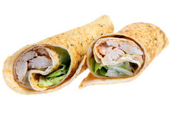 Chicken Wrap. Spicey Cajun chicken in a baked wrap Stock Image