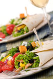 Chicken Wrap stock images