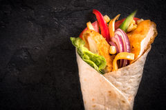 Chicken wrap Stock Photography