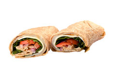 Chicken Wrap Sandwich Stock Image