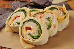 Chicken wrap sandwich Royalty Free Stock Images