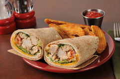 Chicken wrap sandwich Stock Images