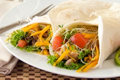 Chicken wraps Royalty Free Stock Images