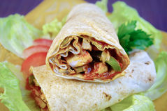 Chicken wraps Royalty Free Stock Image