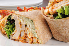 Chicken wraps close up Royalty Free Stock Photography