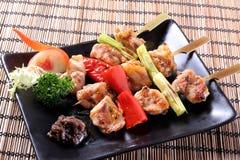 Chicken yakitoui. China Korea food background  chicken yakitoui barbecue Stock Images