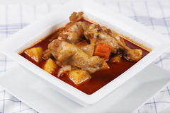 Chicken yellow curry Royalty Free Stock Photos