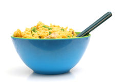 Chicken & Yellow rice bowl level Royalty Free Stock Photos