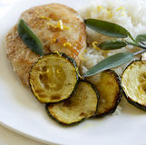 Chicken with zucchini Royalty Free Stock Photo