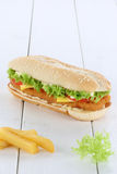 Chickenburger chicken burger hamburger copyspace copy space toma Stock Photo