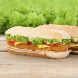 Chickenburger chicken burger hamburger tomatoes cheese Stock Photos