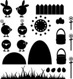 ChickenEasterBlack Royalty Free Stock Images