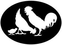 chickenfamily 库存例证