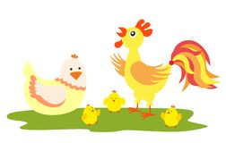 Chickens family Stock Image