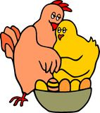 Chickens in love Royalty Free Stock Photography