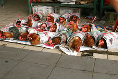 Chickens for sale Stock Photos