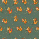 Chickens seamless pattern. Colorful Chickens seamless vector pattern Royalty Free Stock Photos