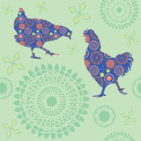Chickens. Seamless textur Royalty Free Stock Image