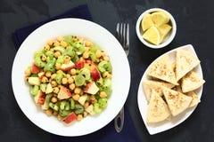 Chickpea, σέλινο, Apple και σαλάτα σταφυλιών Στοκ φωτογραφίες με δικαίωμα ελεύθερης χρήσης