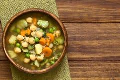 Chickpea και φυτική σούπα Στοκ εικόνες με δικαίωμα ελεύθερης χρήσης