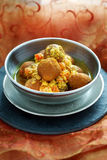 Chickpea balls with sauce Royalty Free Stock Photo
