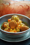 Chickpea balls with sauce Royalty Free Stock Photography