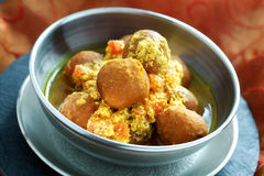 Chickpea balls with sauce Royalty Free Stock Image