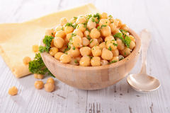 Chickpea in bowl Royalty Free Stock Photography