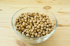 Chickpea in bowl Royalty Free Stock Images