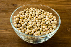 Chickpea in bowl Stock Photo