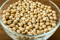 Chickpea in bowl Royalty Free Stock Photos