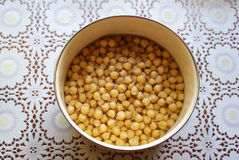 Chickpea in a bowl on the table Royalty Free Stock Photo