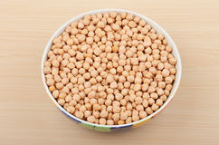 Chickpea in ceramic bowl Royalty Free Stock Photo