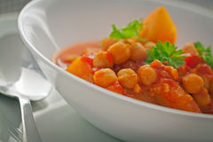 Chickpea Curry. Chickpeas curry is a delicious curry that is a very popular side dish in Indian food royalty free stock photos