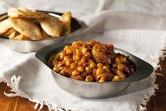 Chickpea Curry'ego Gość restauracji Zdjęcie Stock