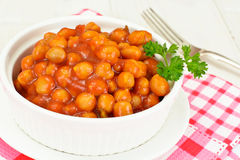 Chickpea in Curry stock photo