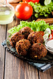 Chickpea falafel balls with vegetables Stock Photography