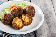 Chickpea falafel balls with vegetables Stock Images