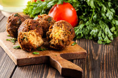 Chickpea falafel balls with vegetables Royalty Free Stock Image